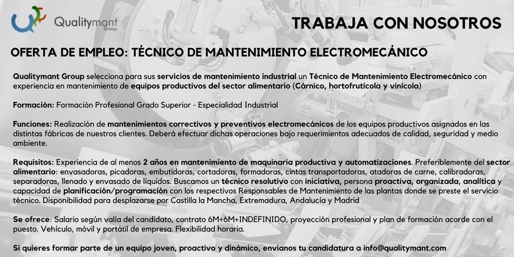 Vacante Técnico electromecánico